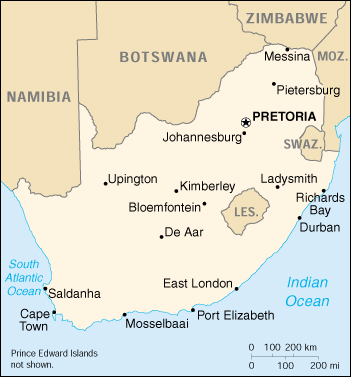 Cia the world factbook 2000 south africa country map of south africa gumiabroncs Gallery